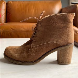 3 for $30! Aldo tan suede block heel ankle booties